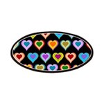Groovy Hearts Pattern Patches