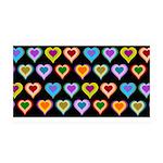 Groovy Hearts Pattern 38.5 x 24.5 Wall Peel