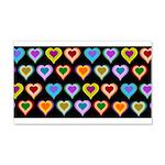 Groovy Hearts Pattern 22x14 Wall Peel