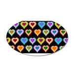 Groovy Hearts Pattern 38.5 x 24.5 Oval Wall Peel