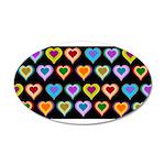 Groovy Hearts Pattern 22x14 Oval Wall Peel
