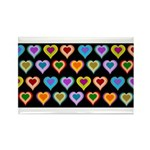 Groovy Hearts Pattern Rectangle Magnet (10 pack)