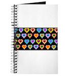 Groovy Hearts Pattern Journal