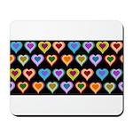 Groovy Hearts Pattern Mousepad