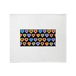Groovy Hearts Pattern Throw Blanket