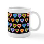 Groovy Hearts Pattern Mug