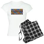 Groovy Hearts Pattern Women's Light Pajamas