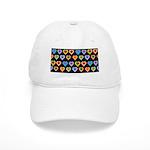 Groovy Hearts Pattern Cap