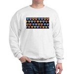 Groovy Hearts Pattern Sweatshirt