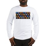 Groovy Hearts Pattern Long Sleeve T-Shirt