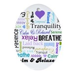 Relax Typography Ornament (Oval)