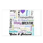 Relax Typography Postcards (Package of 8)