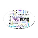 Relax Typography 22x14 Oval Wall Peel