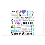 Relax Typography Sticker (Rectangle 50 pk)