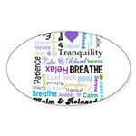 Relax Typography Sticker (Oval 50 pk)