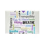 Relax Typography Rectangle Magnet