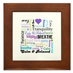 Relax Typography Framed Tile