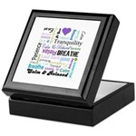 Relax Typography Keepsake Box