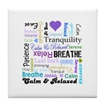 Relax Typography Tile Coaster