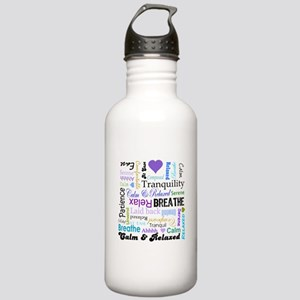 Relax Typography Stainless Water Bottle 1.0L