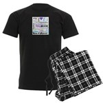 Relax Typography Men's Dark Pajamas