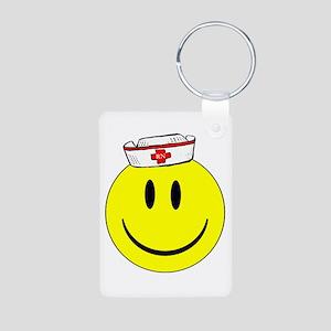 Registered Nurse Happy Face Aluminum Photo Keychai