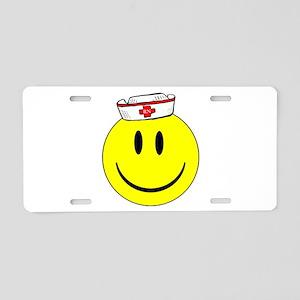 Registered Nurse Happy Face Aluminum License Plate