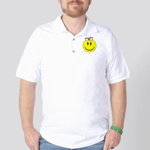 Registered Nurse Happy Face Golf Shirt