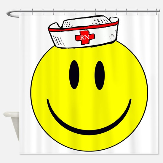 Registered Nurse Happy Face Shower Curtain