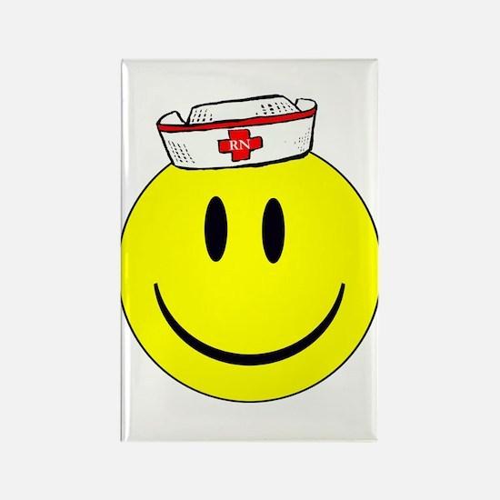 RN Nurse Happy Face Rectangle Magnet