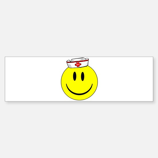 RN Nurse Happy Face Bumper Bumper Bumper Sticker