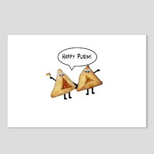 Happy Purim Hamantaschen Postcards (Package of 8)