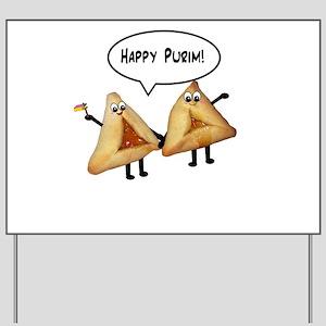 Happy Purim Hamantaschen Yard Sign