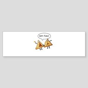 Happy Purim Hamantaschen Sticker (Bumper)