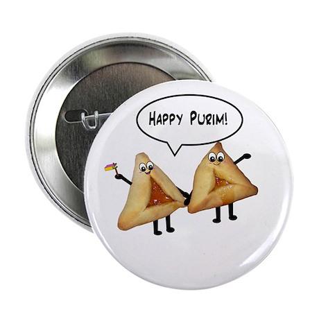 """Happy Purim Hamantaschen 2.25"""" Button (100 pack)"""