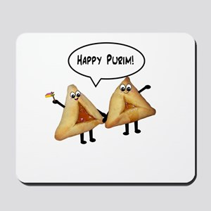 Happy Purim Hamantaschen Mousepad