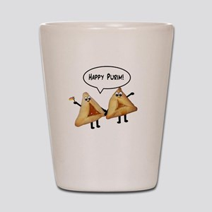 Happy Purim Hamantaschen Shot Glass