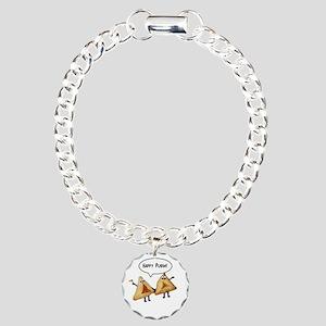 Happy Purim Hamantaschen Charm Bracelet, One Charm