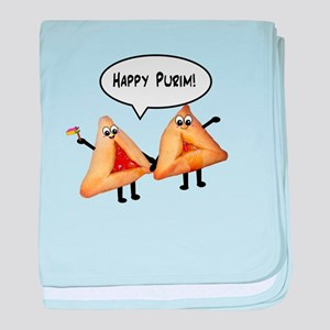 Happy Purim Hamantaschen baby blanket