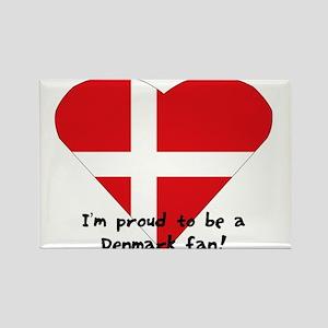 Denmark fan Rectangle Magnet