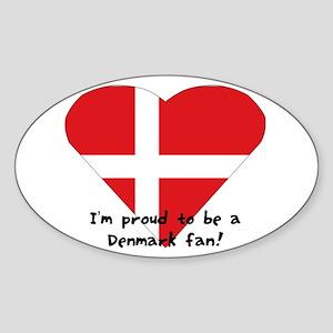Denmark fan Sticker (Oval)