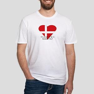 Denmark fan Fitted T-Shirt