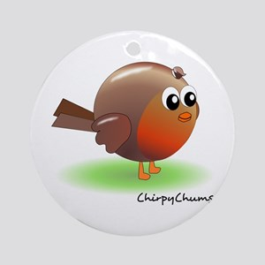Sweet Robin Red Breast Ornament (Round)
