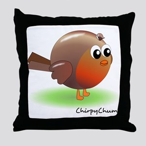 Sweet Robin Red Breast Throw Pillow