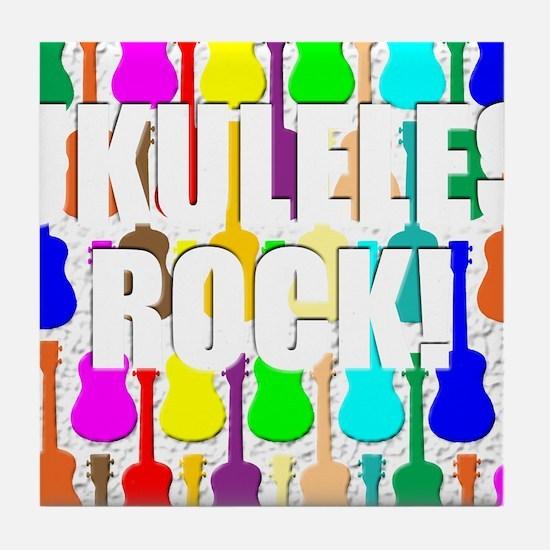 Awesome Ukuleles Rock Tile Coaster