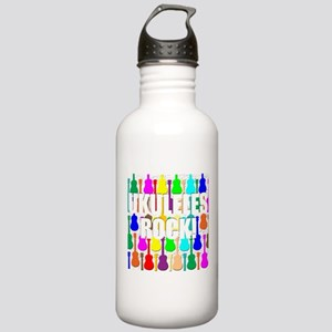 Awesome Ukuleles Rock Stainless Water Bottle 1.0L