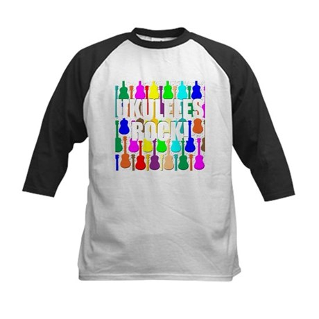 Awesome Ukuleles Rock Kids Baseball Jersey