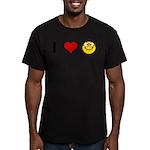 I love Nerds Men's Fitted T-Shirt (dark)