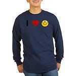 I love Nerds Long Sleeve Dark T-Shirt