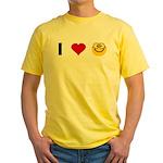 I love Nerds Yellow T-Shirt